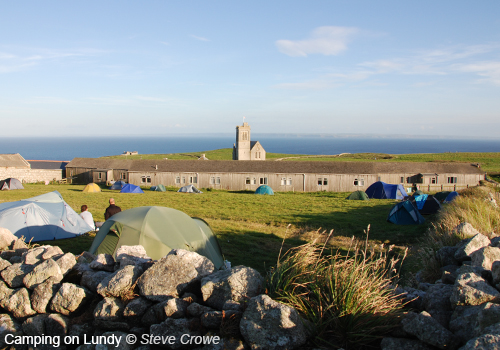 Camping on Lundy © Steve Crowe