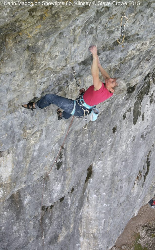 Karin Magog on Showtime 8b, Kilnsey © Steve Crowe 2015