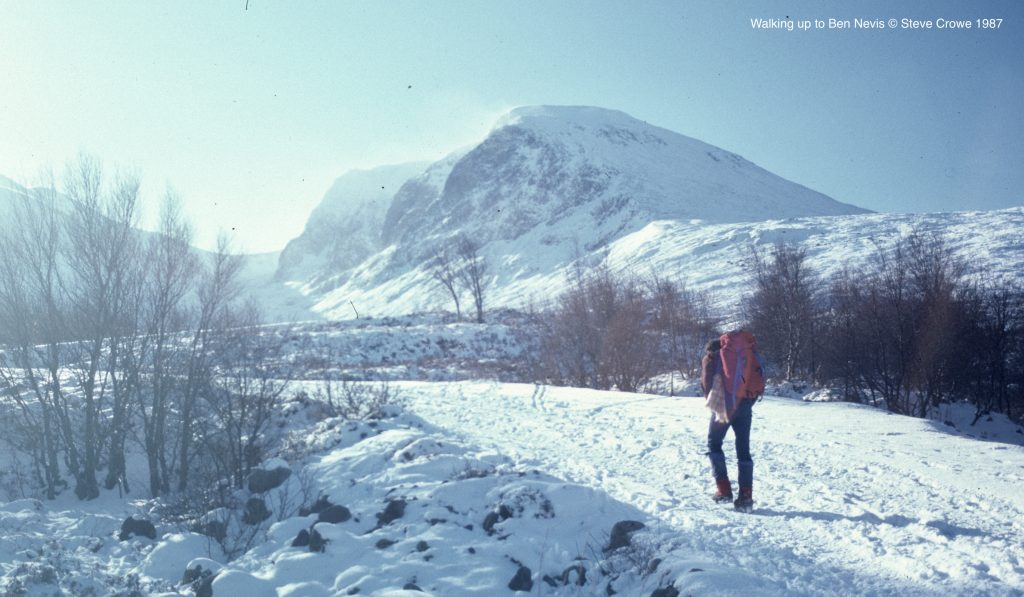 Walking in, Ben Nevis @ Steve Crowe 1987