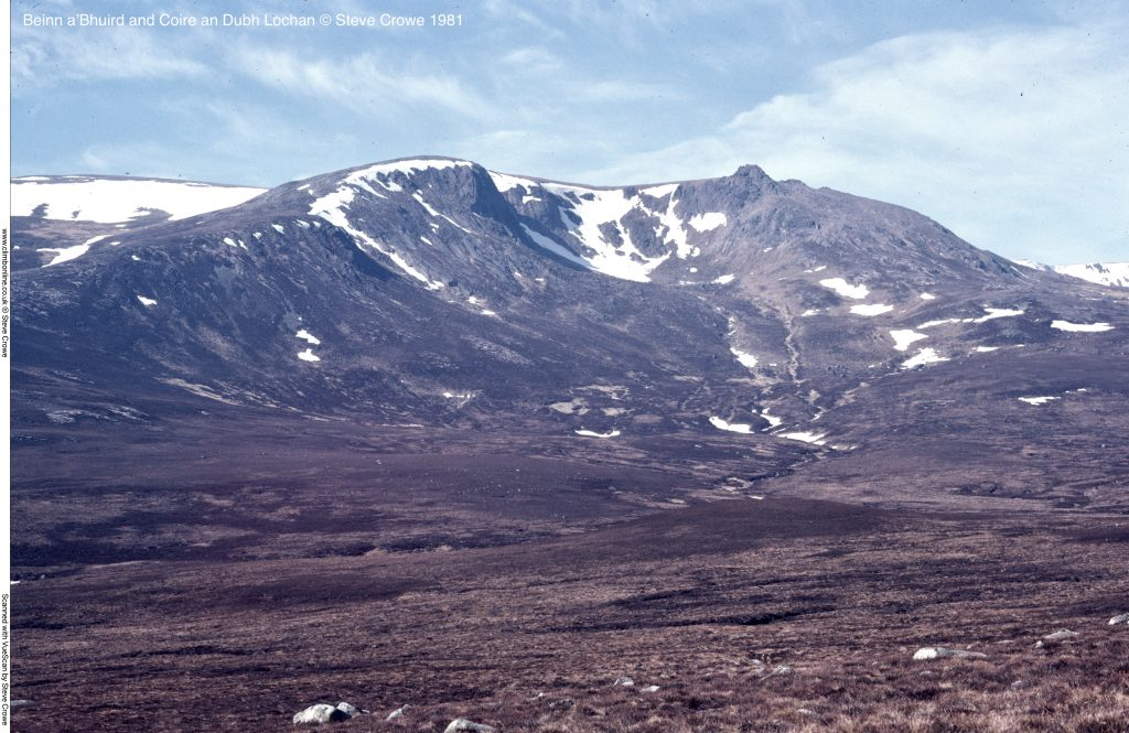 Beinn a'Bhuird and Coire an Dubh Lochan © Steve Crowe 1981