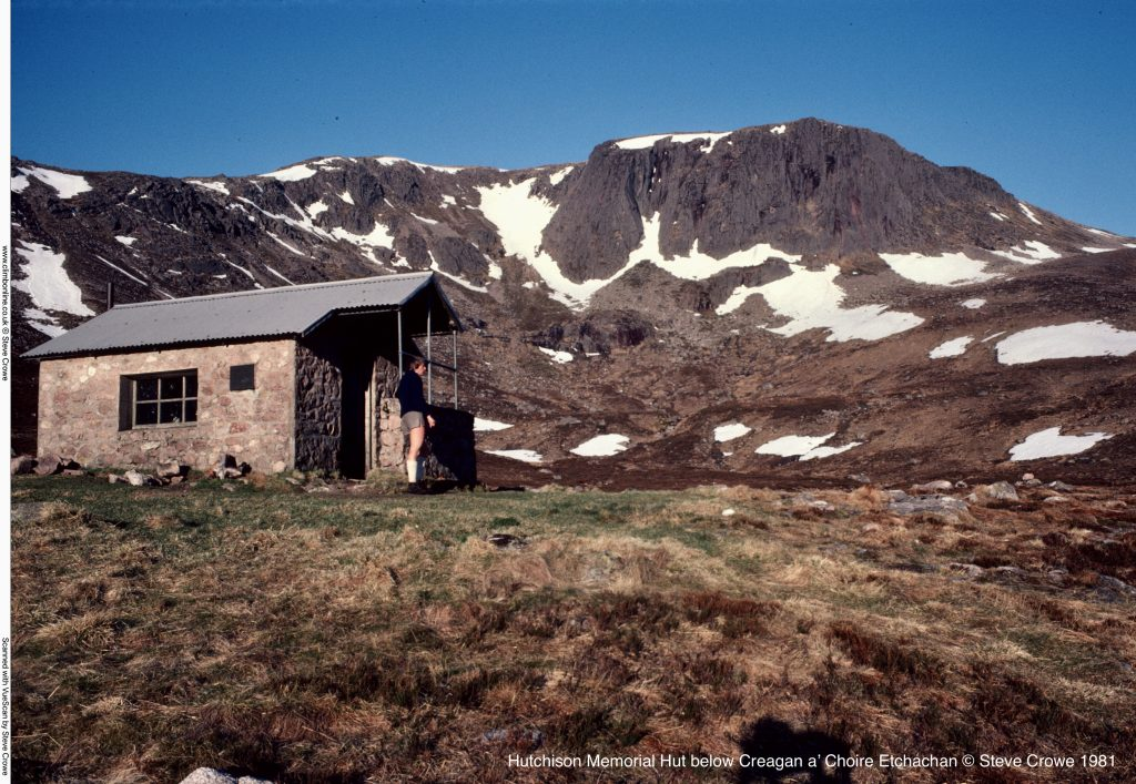 Hutchison Memorial Hut below Creagan a' Choire Etchachan © Steve Crowe 1981
